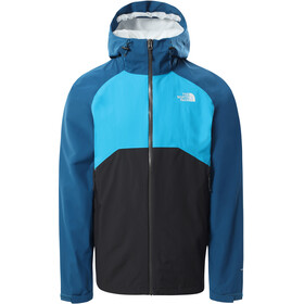 The North Face Stratos Jacket Men asphalt grey/moroccan blue/meridian blue